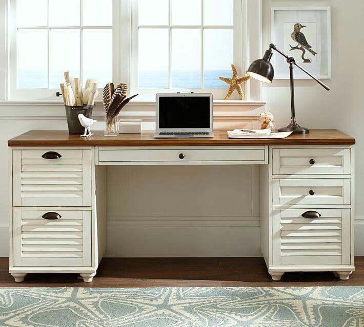 Coastal Desk For The Office Pinterest Desks