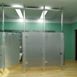 A New #Frameless #Bathroom - Bring your restroom into the modern era with frameless #restroom #partitions. You can get a fresh makeover without sacrificing any privacy or functionality.