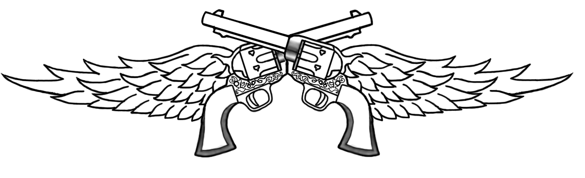 crossed pistol tattoo drawings guns with wings graphics and comments miranda lambert