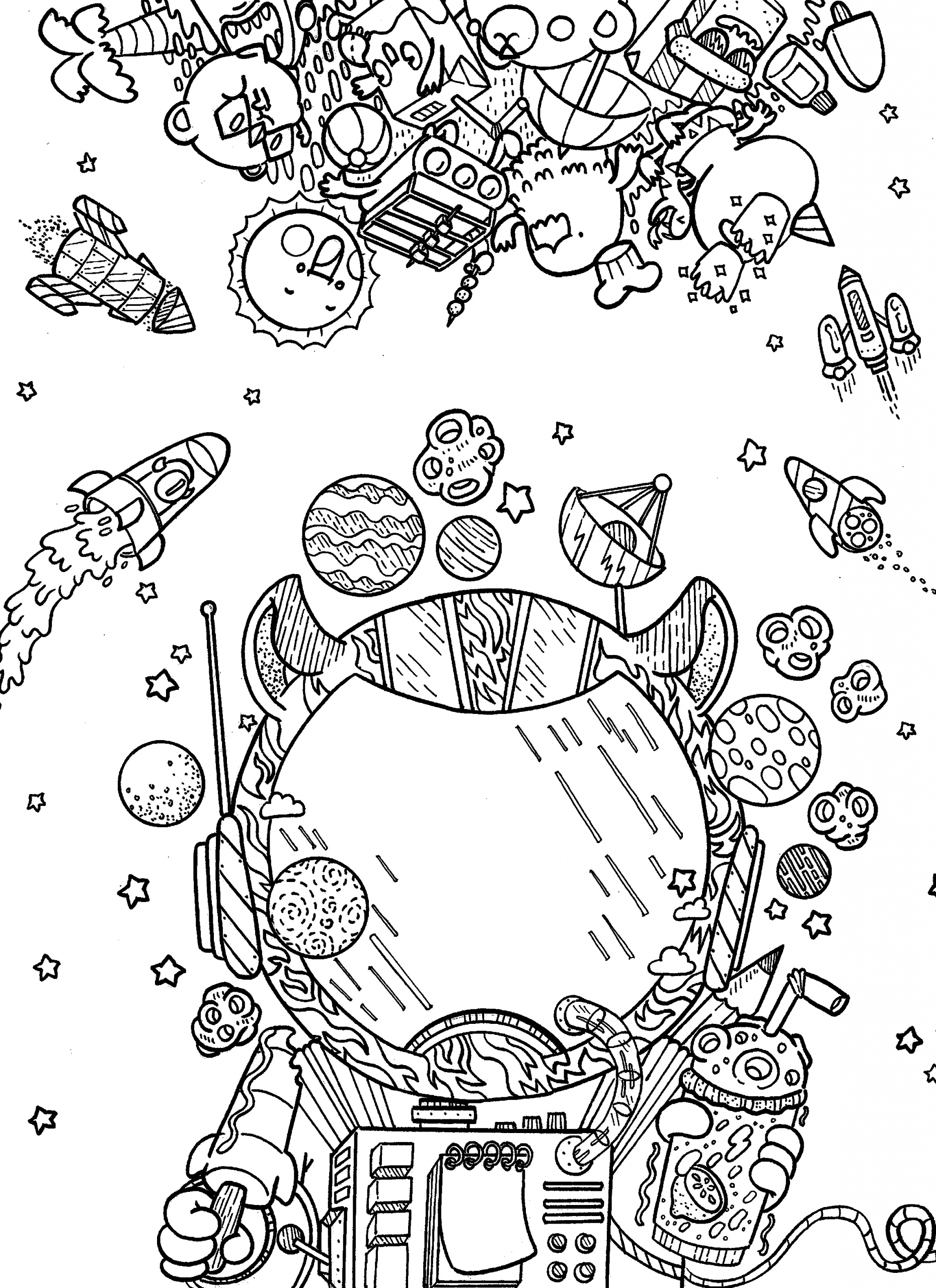 Outer Space Coloring Pages In