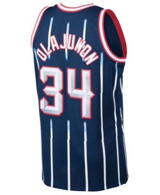 398c8f8bd Mitchell   Ness Big Boys Hakeem Olajuwon Houston Rockets Hardwood Classic  Swingman Jersey - Navy