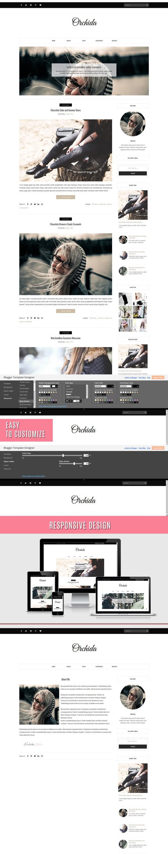 Blogger Template - Orchida. Google Slides Templates. $13.00   Google ...