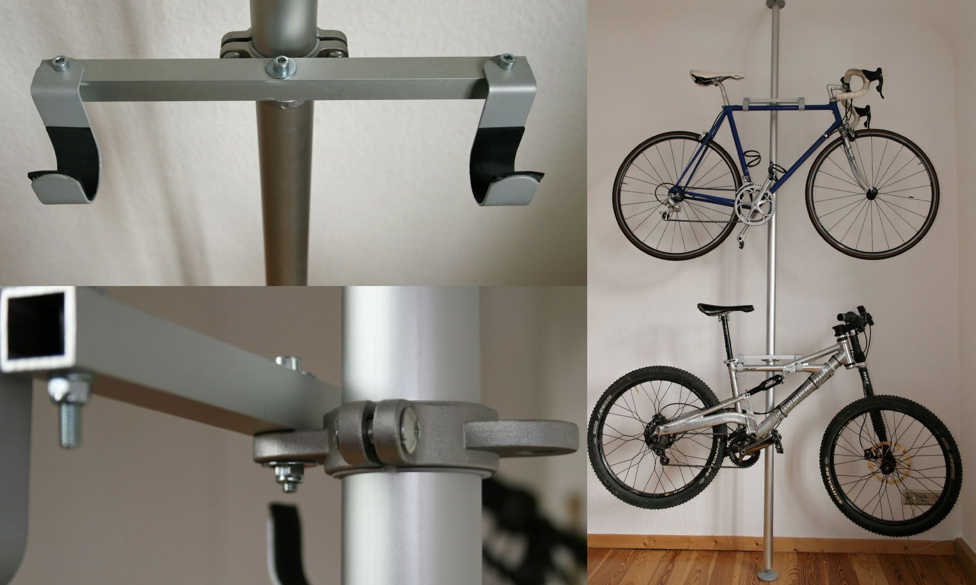 Homemade Bike Rack from Ikea Parts