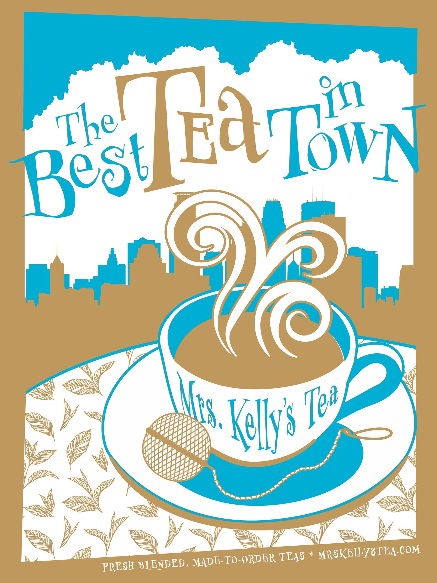 Midwest pantry mrs kellys teas screenprinted posters