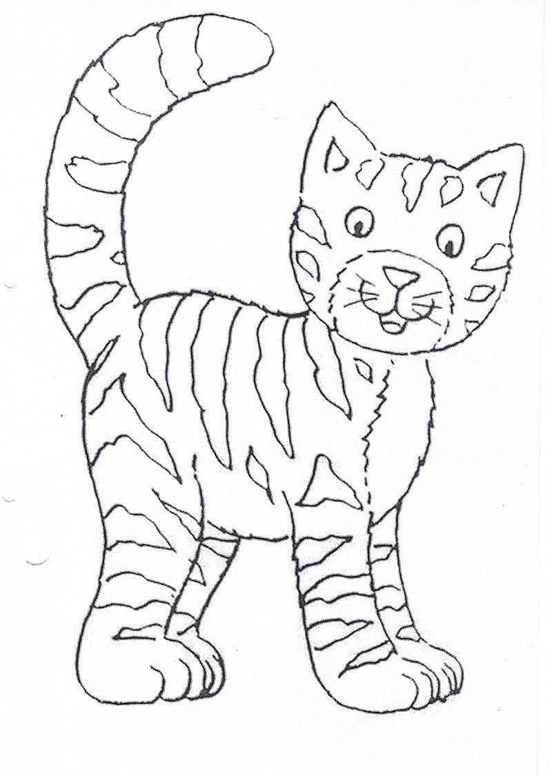 Katzen Ausmalbilder Zum Drucken Kostenlos : Katze Ausmalbild Ausmalbilder F R Kinder Applikationen
