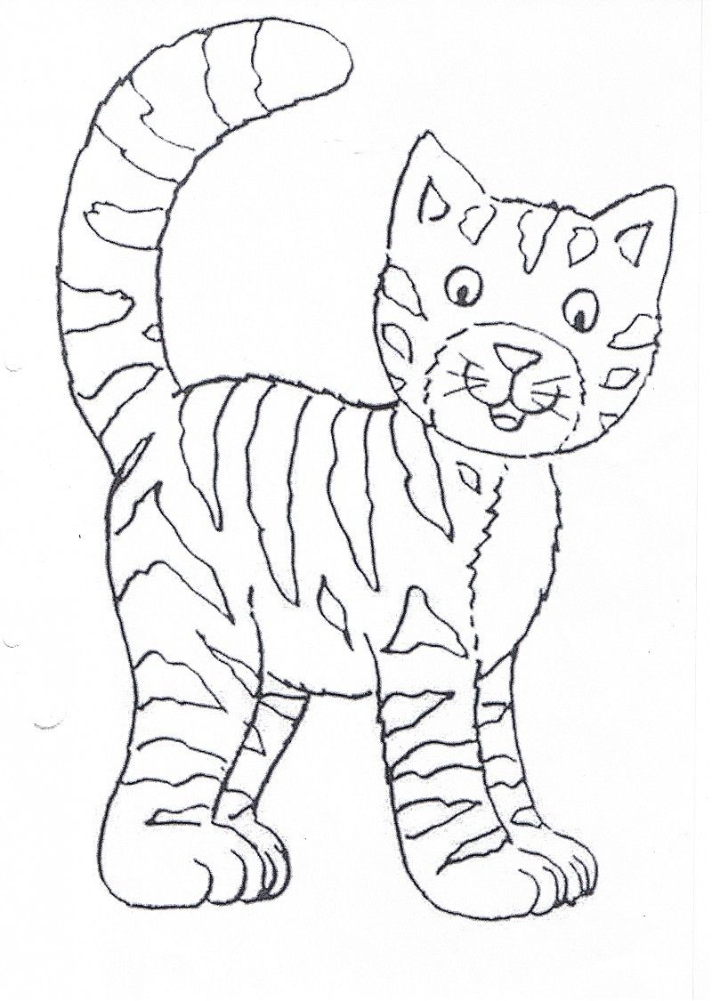 Ausmalbilder Zu Katzen : Katze Ausmalbild Ausmalbilder F R Kinder Ausmalbilder