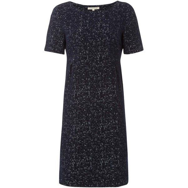 White Stuff Oshi Jersey Dress, Blue ($98) ❤ liked on Polyvore featuring dresses, blue dress, jersey maxi dress, sleeve maxi dress, midi dress and white shift dress
