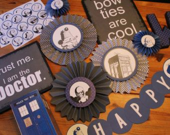 Doctor Who Party Decorations Baby Shower Doctor Who