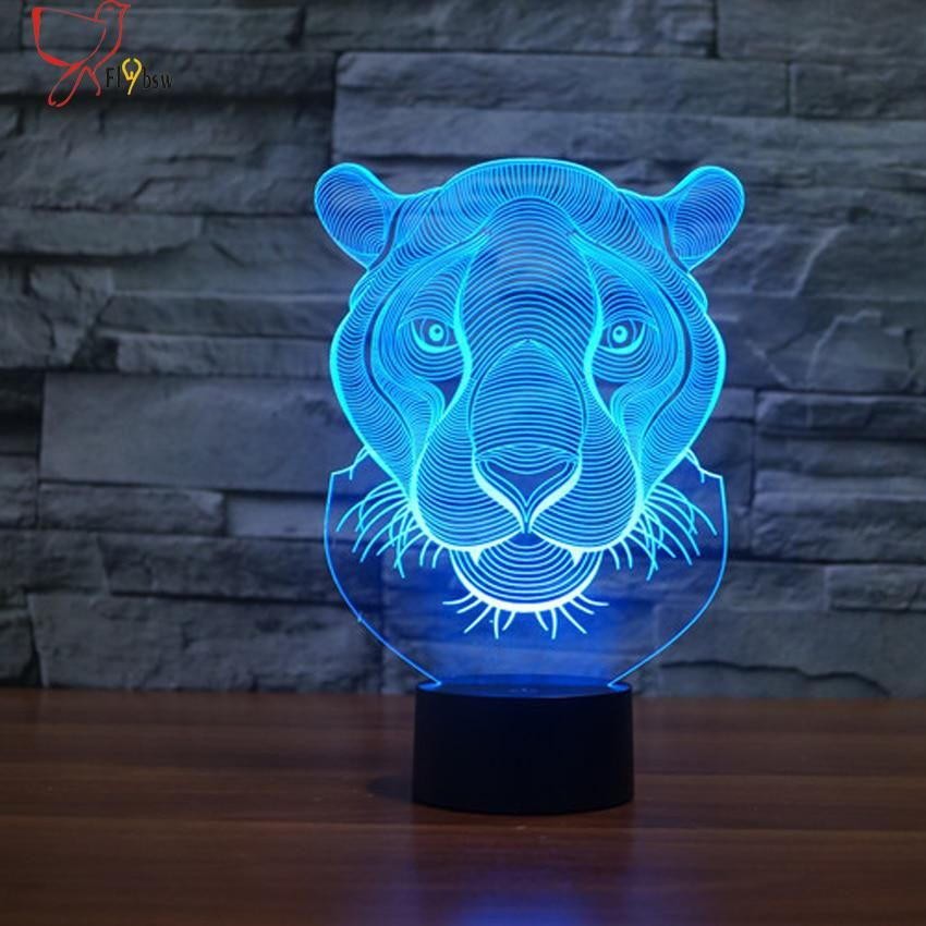 2017 Creative Lion Head Shape Night Light 7 Color Changing Animal Led 3d Illusion Lamp Usb Led Desk Table Lamp As Home Deco Gift With Images Night Lamps 3d Led Lamp Night Light