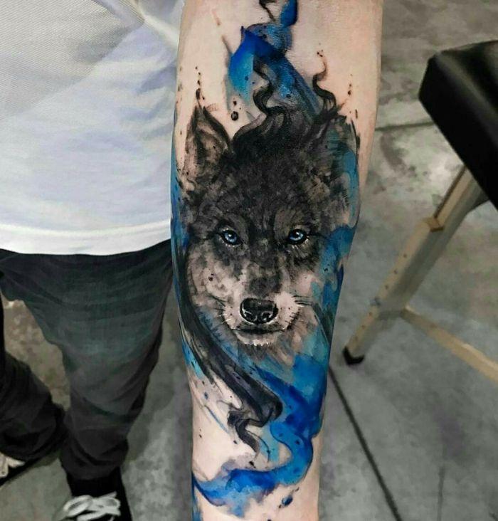 ▷ 1001 + ideas de tatuajes de lobos - diferentes diseños y su