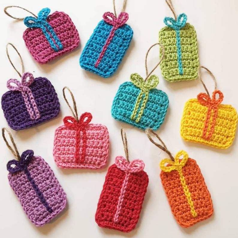 Little Crocheted Presents - Crochet Decorations -