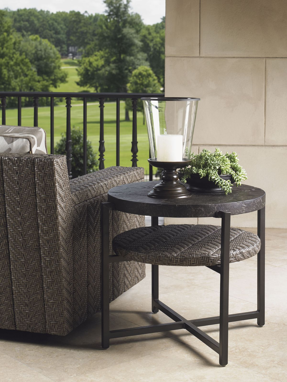 blue olive tommy bahama outdoor end table lexington home brands