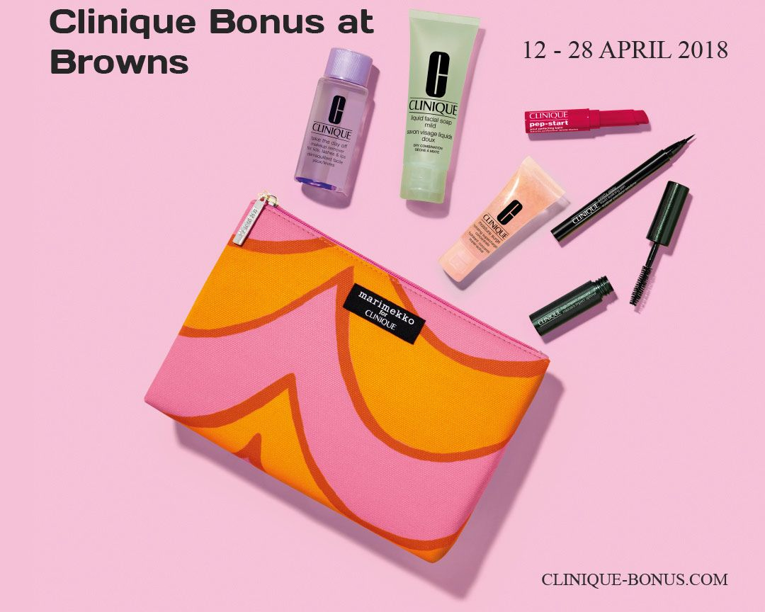 Clinique bonuses in the uk and ie may 2018 clinique