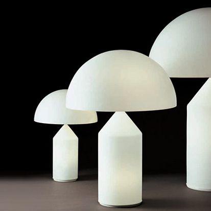 Oluce Lampade Da Tavolo Atollo 235 Vico Magistretti Bordslampor Bordslampa Belysningsdesign