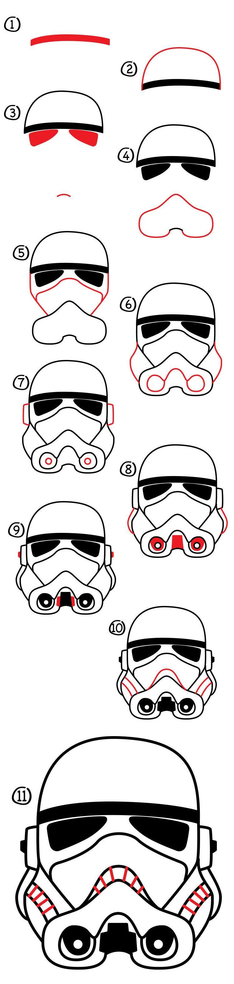 How To Draw A Stormtrooper Helmet Art For Kids Hub Dessin