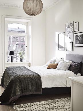 Natural lighted scandinavian bedroom