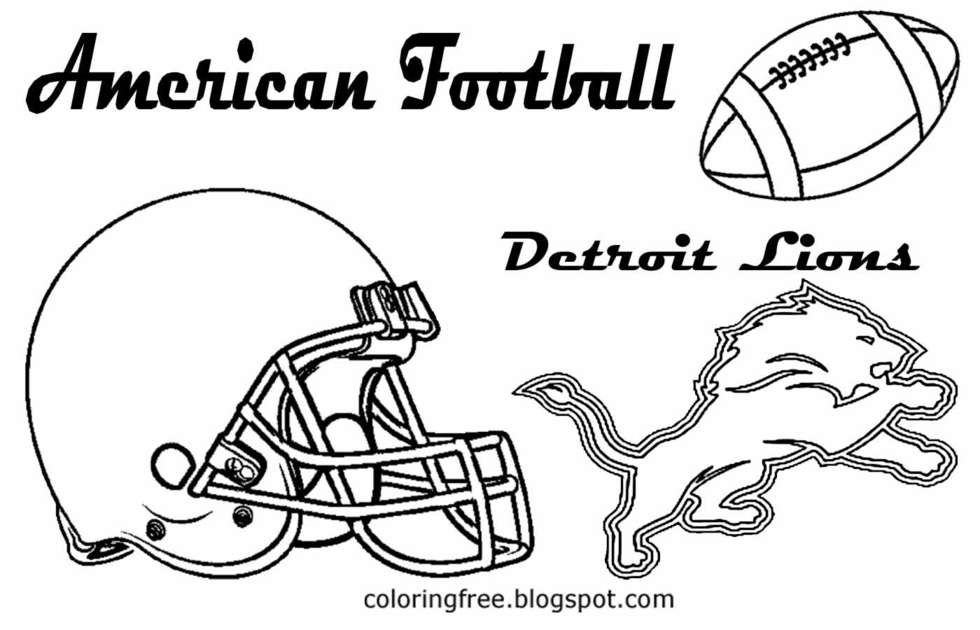 Detroit Lions Helmet Coloring Pages