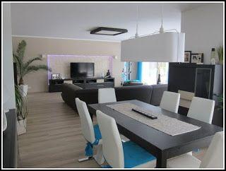 Küche Esszimmer Und Wohnzimmer In Einem Raum