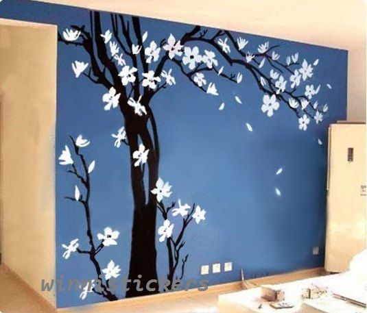 Large Size Vinyl Wall Decal Nature Design Tree Wall Decals Wall