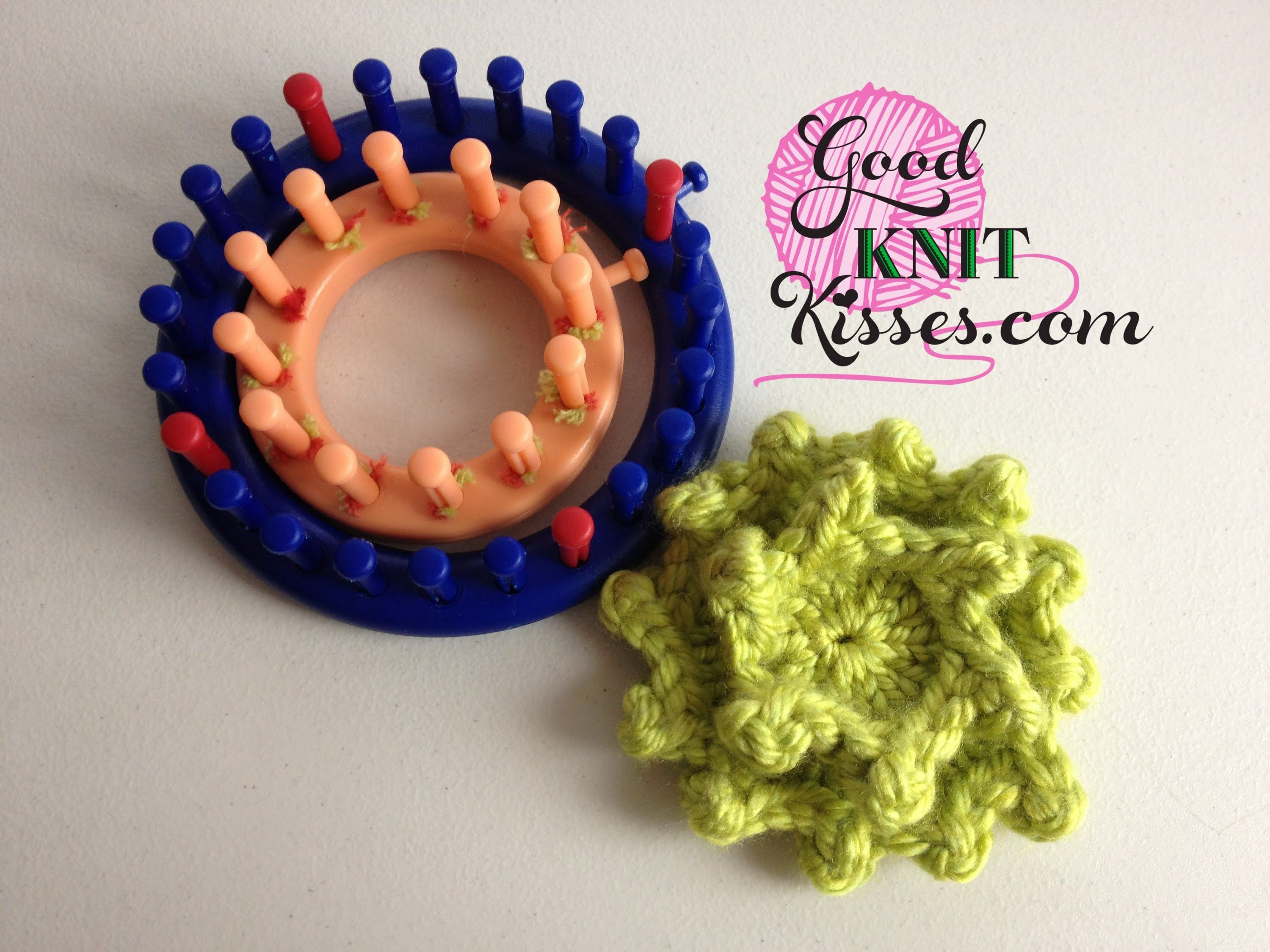 Loom Knit - Picot Petals - 12 point flower done on 24 peg round loom ...
