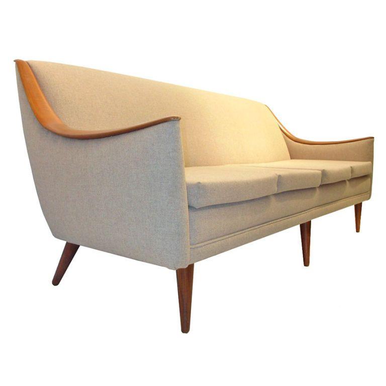 Danish Modern Sculpted Teak Nana Ditzel SofaTeak Furniture and
