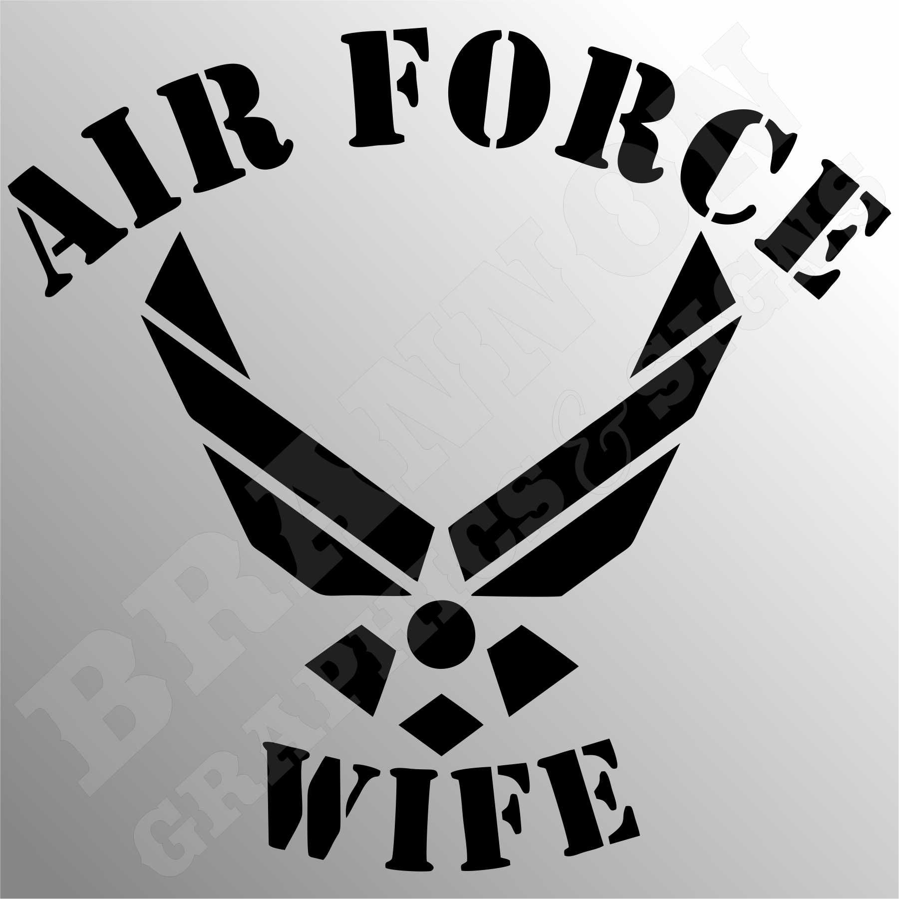 """Air Force Wife Logo"" Military themed design that can be"