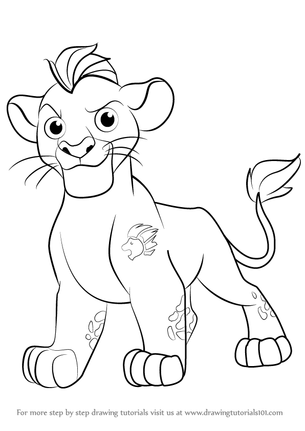 How To Draw Kion From The Lion Guard Drawingtutorials101 Com Coloring Books Animal Coloring Books Drawings