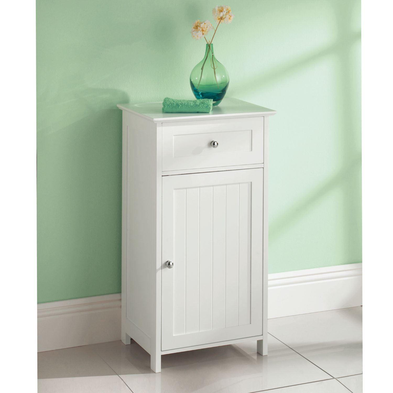 White Wooden Bathroom Cabinet Shelf Cupboard Bedroom Storage Unit Free Standing Ebay Badezimmer Set Wohnzimmerschranke Badezimmer Mobel