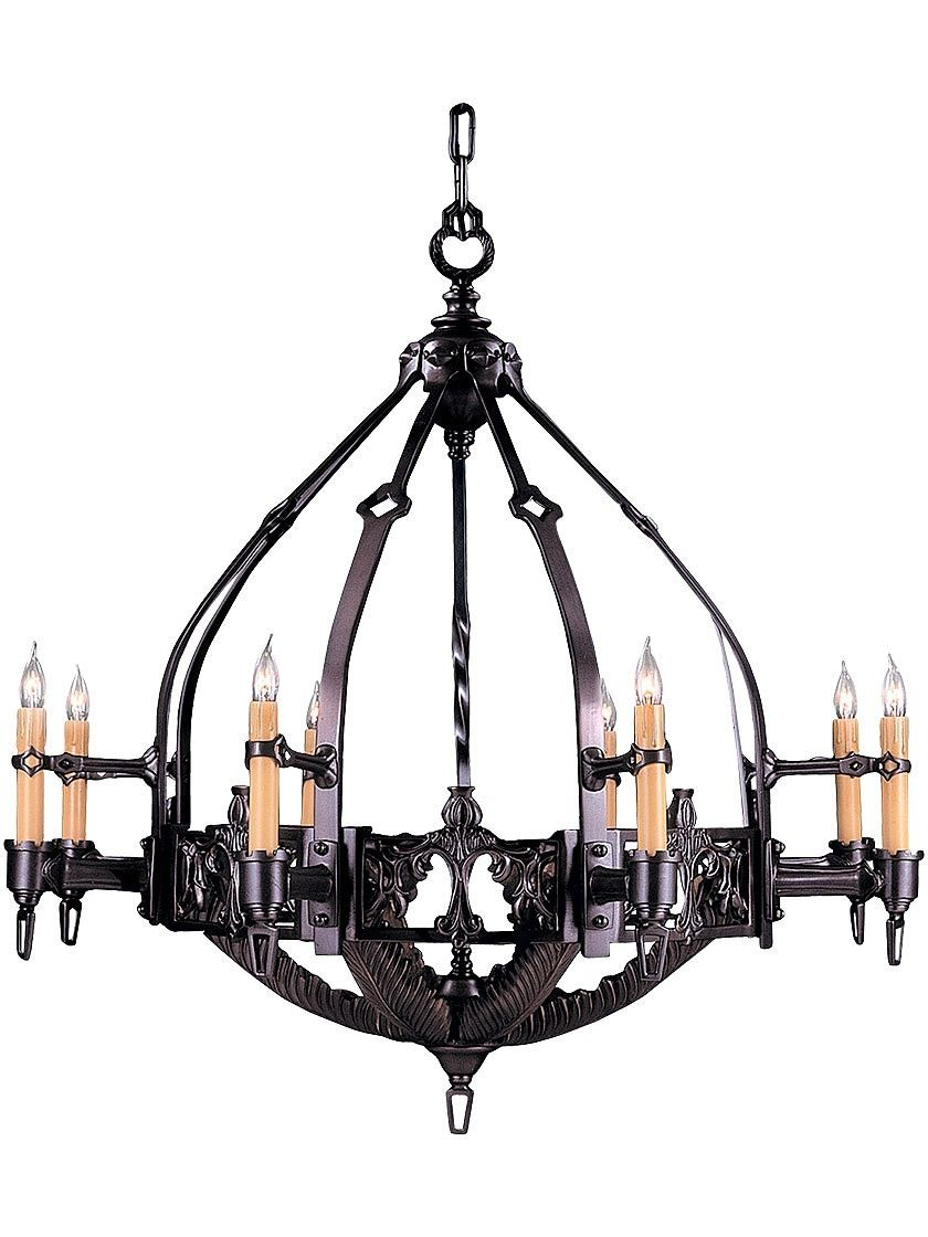 gothic time period inspired chandelier