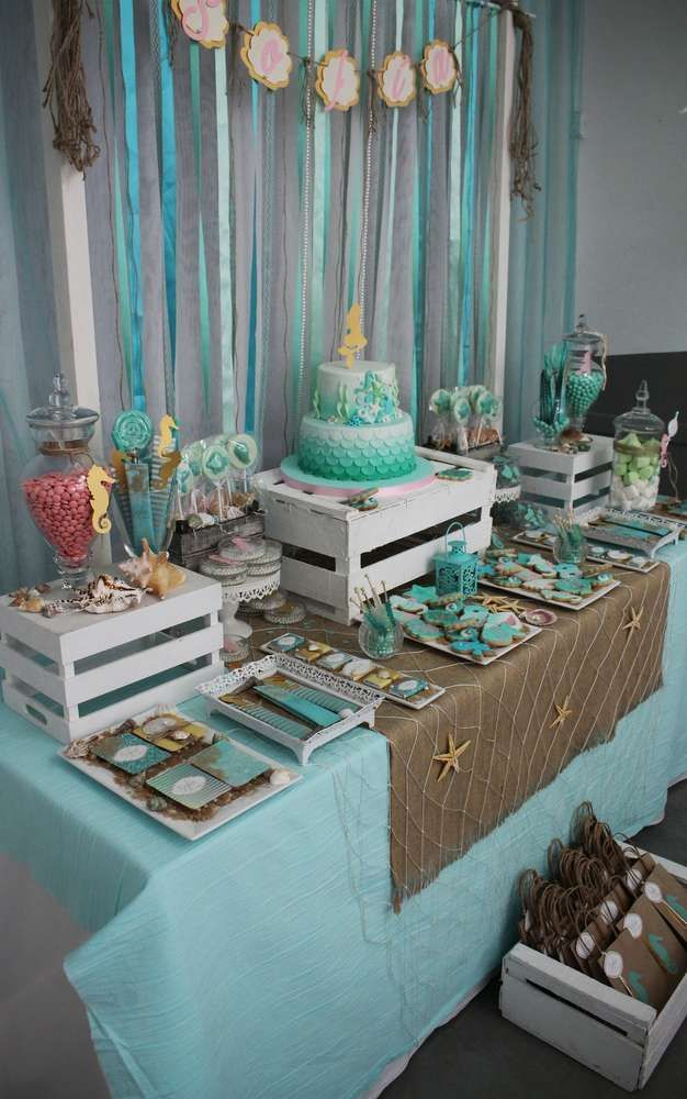 Under the Sea Birthday Party Ideas | Photo 1 of 27 in 2019 ...
