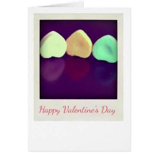 Candy Hearts Polaroid Greeting