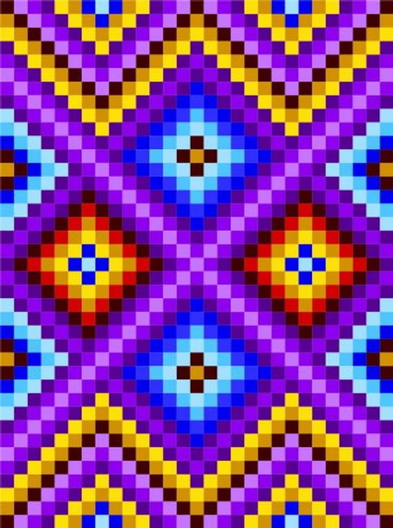 0031 Zigzag Checkers Quilt Pattern