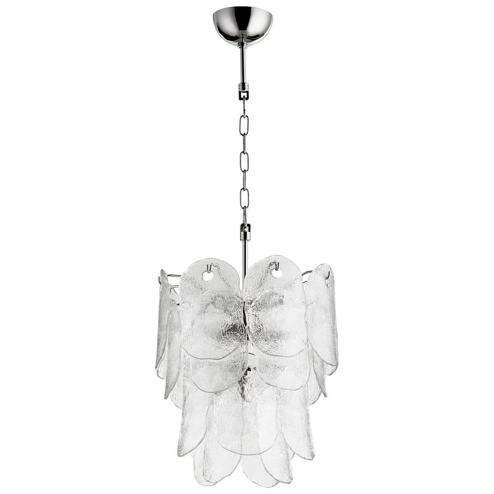 Cascata small pendant in polished nickel pendants and products