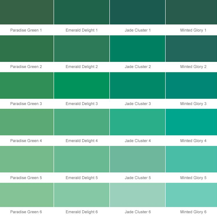 Colour Charts For Paint Asnu Emerald Delight 2 House Exterior