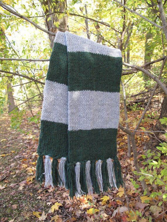 Harry Potter Inspired Slytherin Scarf by nuclearkitten on Etsy