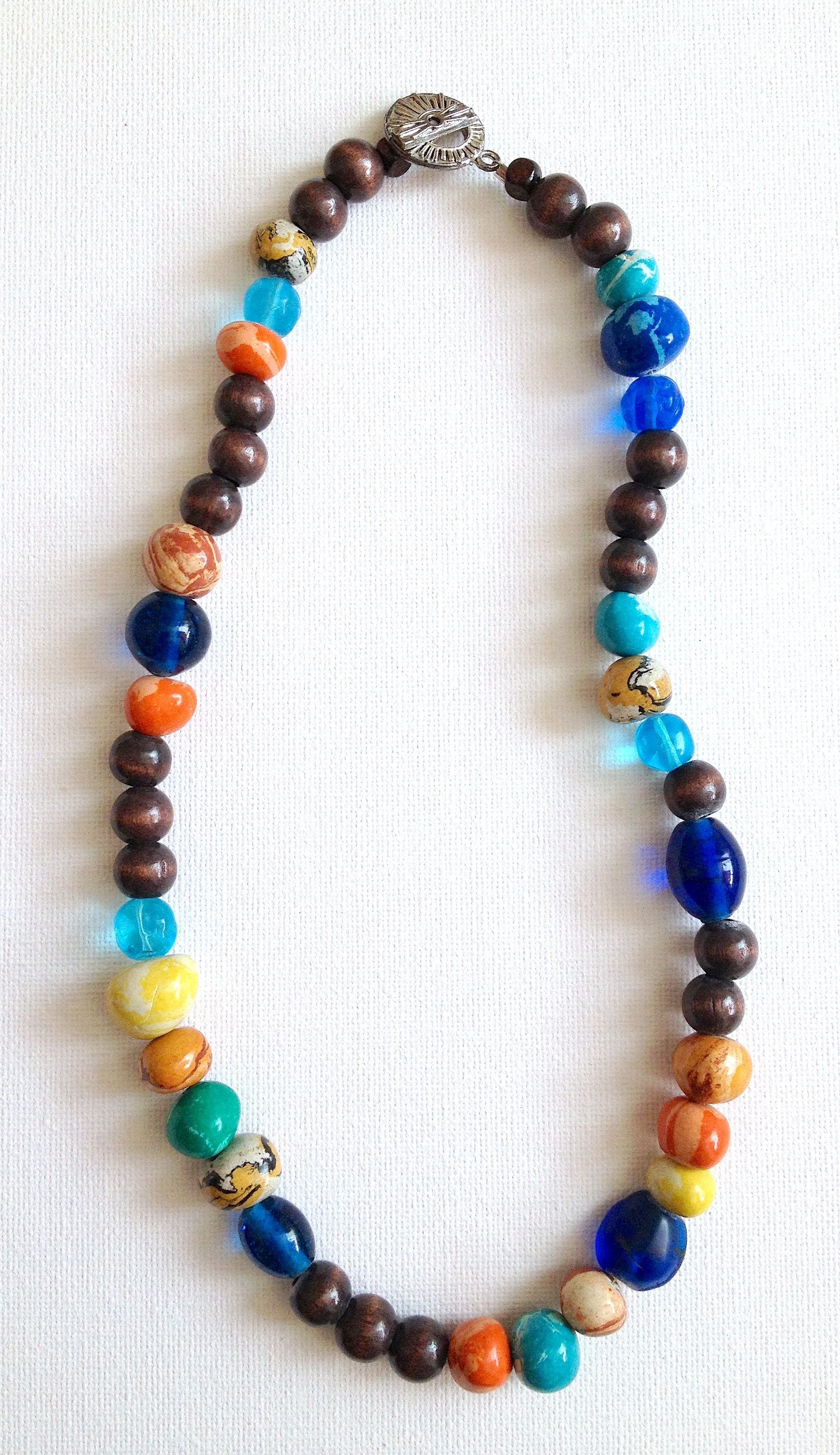 trade bead vintage by wood beautiful and necklace island glamrox pin colors com