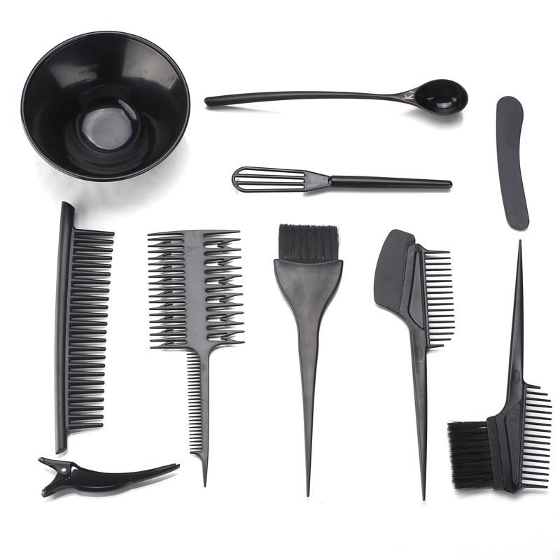 10 In 1 Hair Dye Set Tinting Bowl And Tinting Brush Salon Sundries Kiki Beauty World Dyed Hair Hair Tools Hair Dye Brush