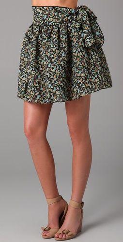 Karen Zambos Vintage Couture Bow Skirt