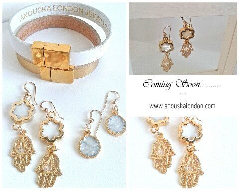 Georgeous new 14kt Gold hook earrings.  Coming soon to Anouska London Jewellery.