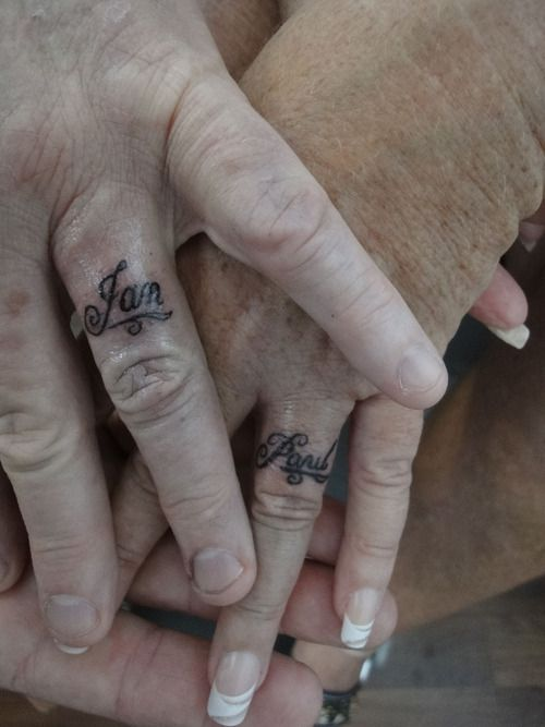 Dream Tattoo My Husbands Name On My Ring Finger This Is What I Am