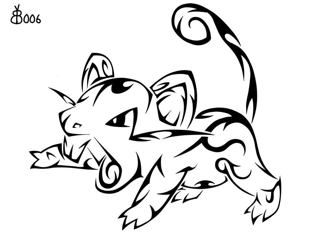 #019: Tribal Rattata by blackbutterfly006 on DeviantArt