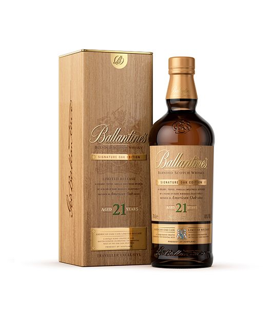 Ballantines Release 21 Year Old American Oak Whisky Packaging