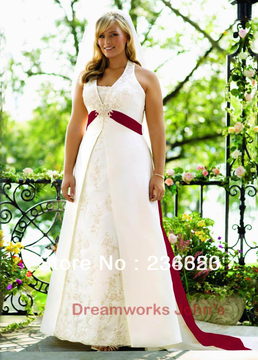 20 Awesome plus size red and white wedding dresses images ...
