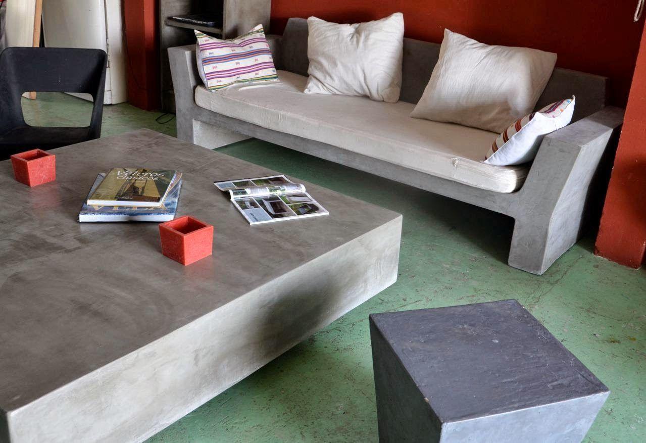Muebles en cemento light estilo ribera casa playa - Muebles de playa ...
