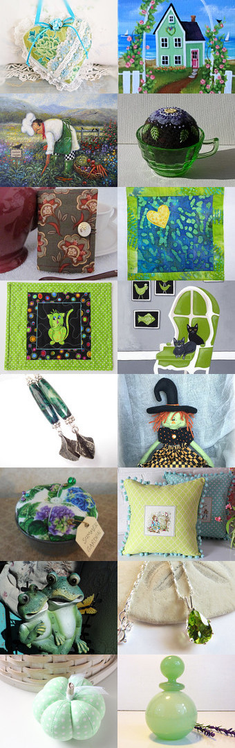 Cool Summer Greens by arcadecache on Etsy--Pinned+with+TreasuryPin.com