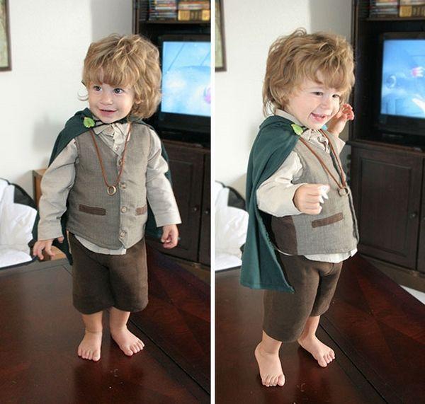 cool toddler halloween costumes LOTR hobbit costume Frodo - unique toddler halloween costume ideas