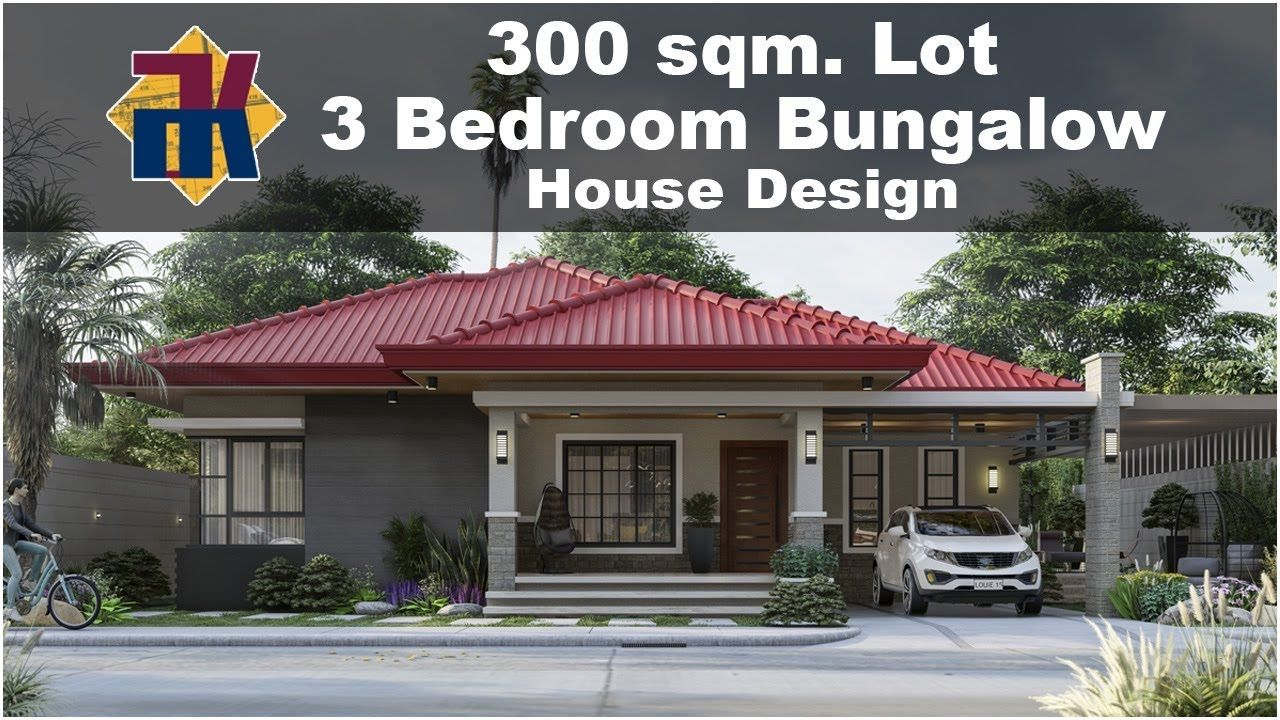 300 Sqm 3 Bedroom Bungalow House Design Exterior Interior Animation Ofw House Youtube House Designs Exterior Bungalow House Design 3 Bedroom Bungalow