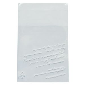 Clear Cookie Bags White letters. Self adhesive white letters printed clear bags. Printed cello bags.