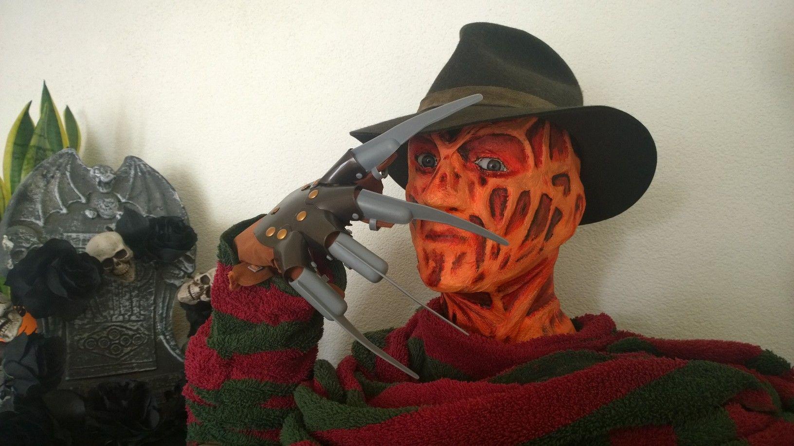 Creating Freddy Krueger with paper mache  https://www.youtube.com/watch?v=CstsjPrwePU