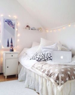 White Bedroom Inspiration Bed DIY Tumblr Room Room Ideas Bedroom Decor Part 29
